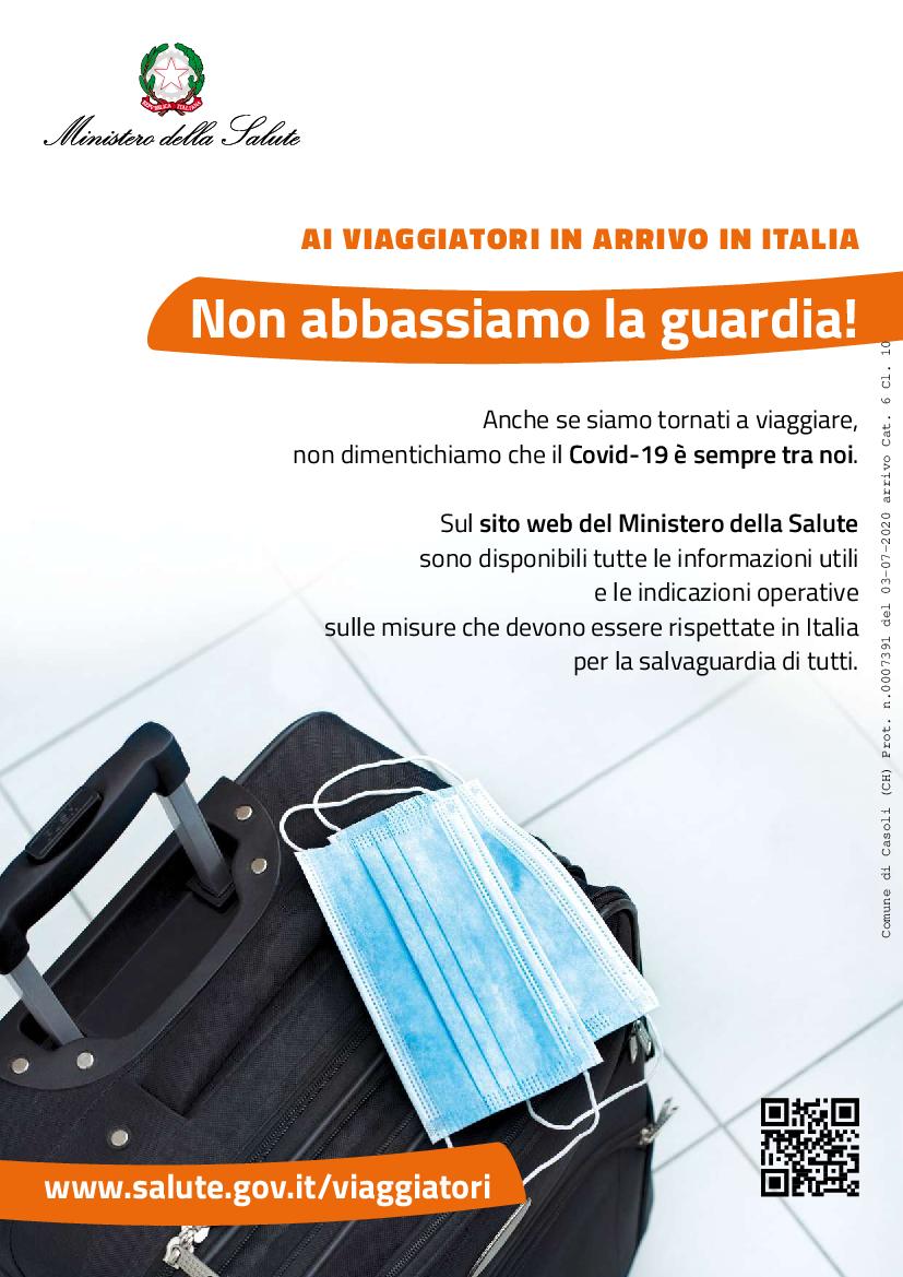 COVID VOLANTINO A4 IN ITALIANO