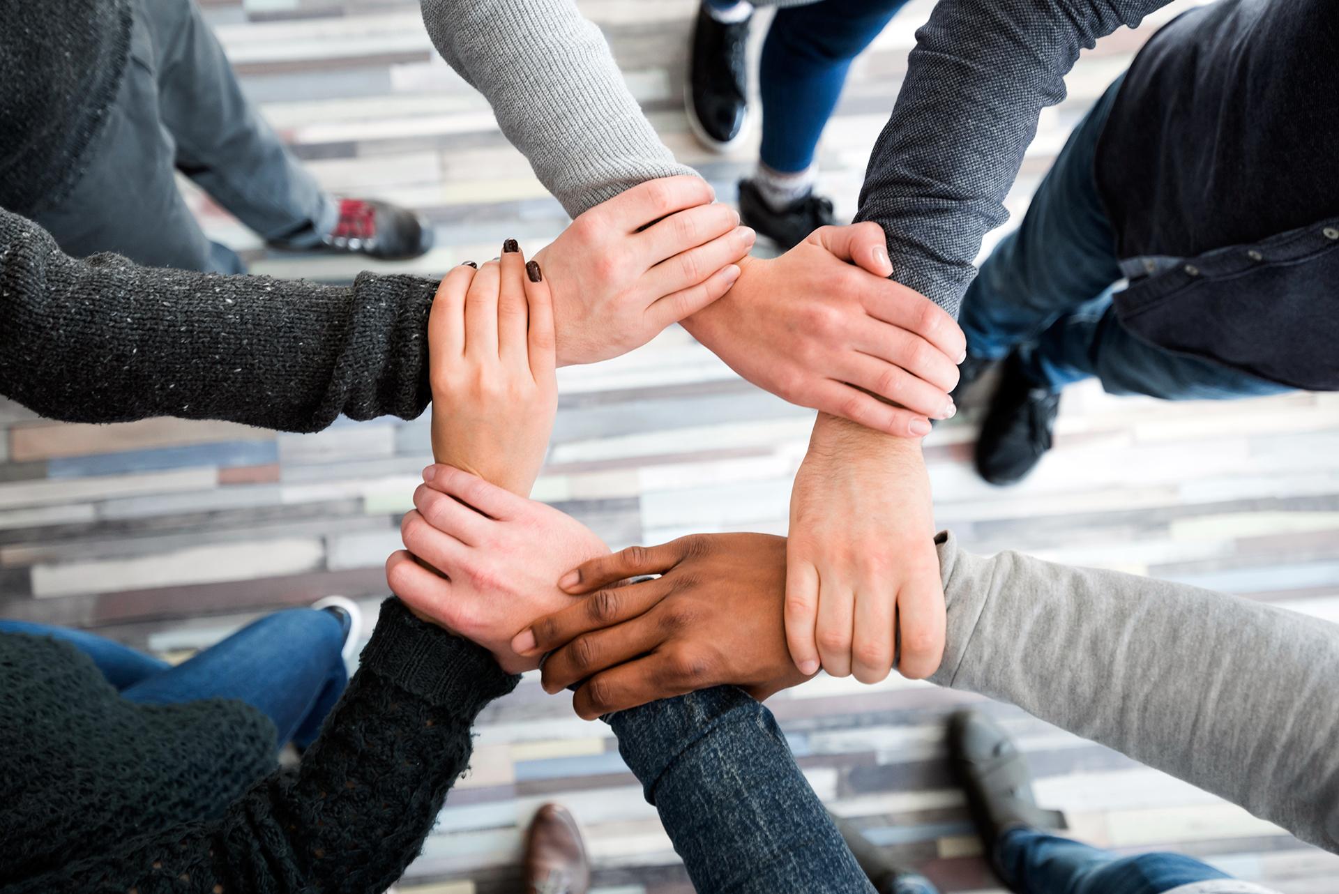 Inclusione mani sociale