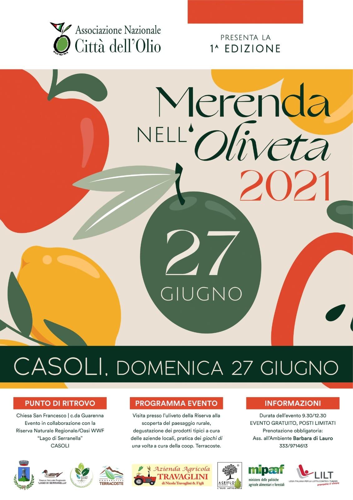 Locandina Merenda Oliveta 2021