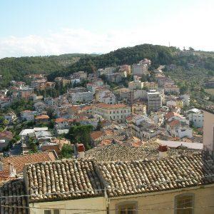 Veduta di Casoli dal castello
